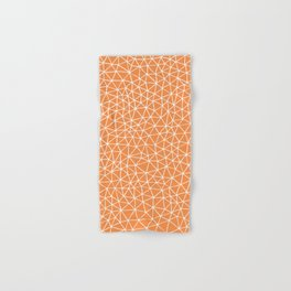 Connectivity - White on Orange Hand & Bath Towel