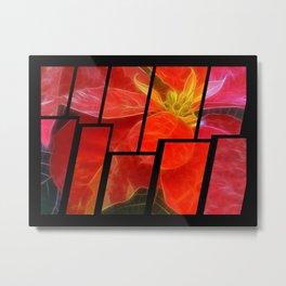 Mottled Red Poinsettia 1 Ephemeral Tinted 2 Metal Print
