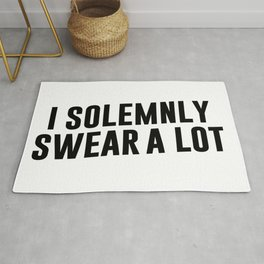I Solemnly Swear A Lot Rug