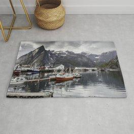 Lofoten Islands, Norway Mountain Landscape Rug