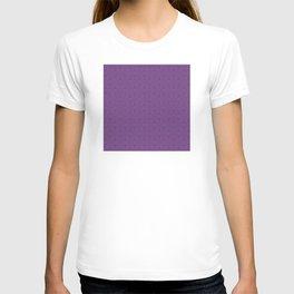 Purple Eggplant Tres Petit Geometric Pattern T-shirt
