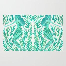 Kelp Forest Mermaid – Mint Palette Rug