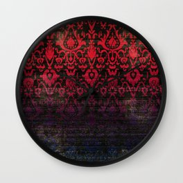 -A12- Red Blue Gardient Colored Moroccan Artwork. Wall Clock