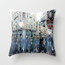 Summer space, smelting selves, simmer shimmers. 19 Throw Pillow