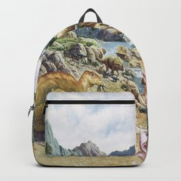 Jurassic dinosaurs in the river Backpack