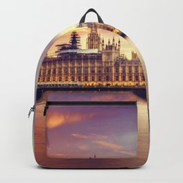 London Sunset Cityscape (Color) Backpack