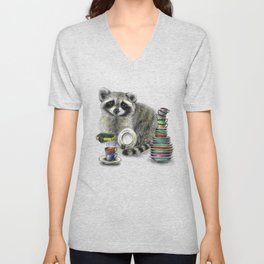 Raccoon Unisex V-Neck