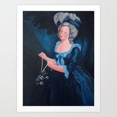 Marie Antoinette, Roller Girl Art Print