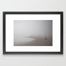 Fog on the Beach, Ocean City, NJ Framed Art Print