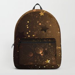 Brown Background with Stars Backpack