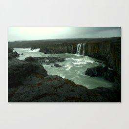 Hrafnabjargafoss waterfall Canvas Print