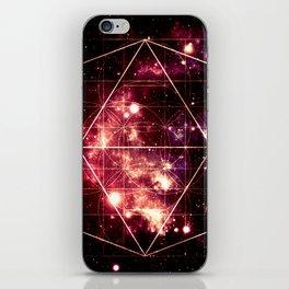 Burgundy Magenta Galaxy Sacred Geometry : Golden Rectangles iPhone Skin