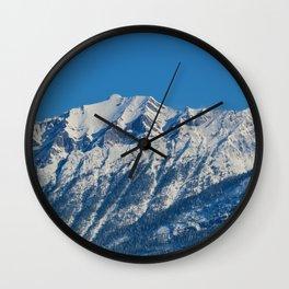 Fresh snow in September in Jasper National Park Wall Clock