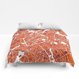 Brussels City Map III Comforters