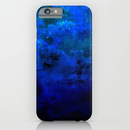 SECOND STAR TO THE RIGHT Rich Indigo Navy Blue Starry Night Sky Galaxy Clouds Fantasy Abstract Art iPhone Case