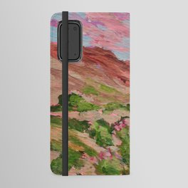 Nevada Desert Landscape Painting Android Wallet Case