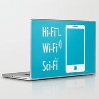 sci fi Laptop & iPad Skins featuring Hi Fi Wi Fi Sci Fi by Seedoiben