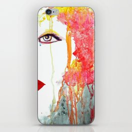 Angry Girl iPhone Skin