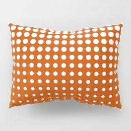 Cool modern techno shrinking polka dots white on mahogany Pillow Sham