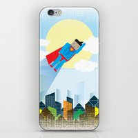 superman iPhone & iPod Skins featuring SUPERMAN by voskovski