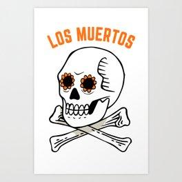 Los muertos / Orange Art Print