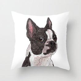 My Baby, Boston Terrier Throw Pillow
