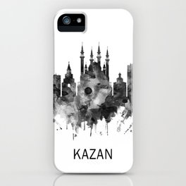 Kazan Russia Skyline BW iPhone Case