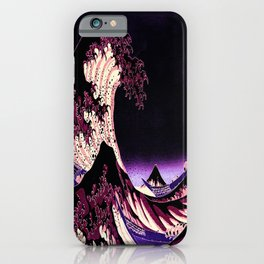 The Great WAVE Eggplant Purple iPhone Case