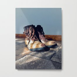 These boots where.... Metal Print