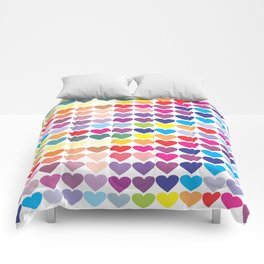 Colorful Hearts Comforters