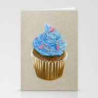 "cupcake Stationery Cards featuring ""Cupcake"" by Allana Vazquez"