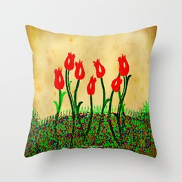 FLOWERS 015 Throw Pillow