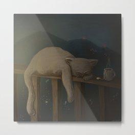 Sleeping Cat (Country Roads) Metal Print