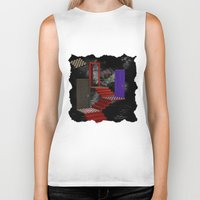 nightmare Biker Tanks featuring nightmare by Ancello