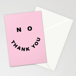No Thank You Funny Offensive Saying Stationery Cards