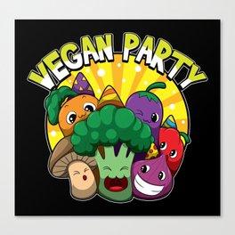 Vegan Party Canvas Print