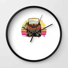 Careful Or You Will End Up In My Novel Motive for a Writer Wall Clock