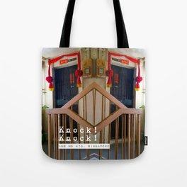 KNOCK KNOCK (ANG MO KIO) Tote Bag