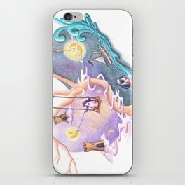 Penguins Dream and Desire and Very Different Worlds iPhone Skin