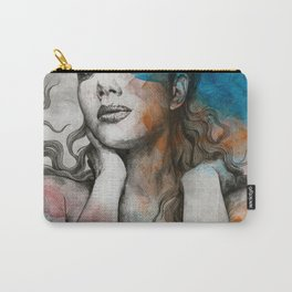 Pillars | nude busty woman realistic portrait Carry-All Pouch
