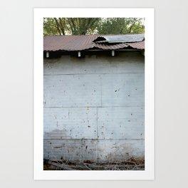 Tin Roof Rusted Art Print