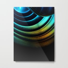 Abstract light Metal Print