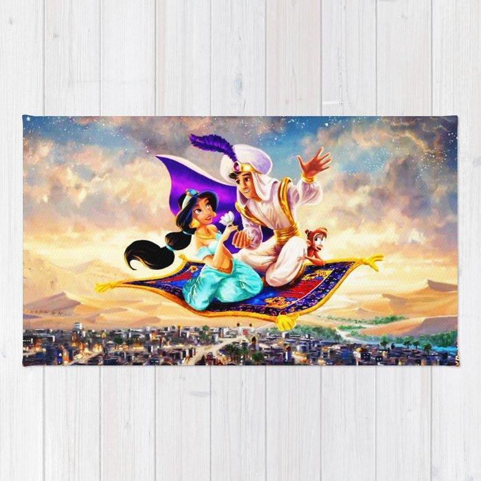 Jasmine Aladdin Flying Carpet Rug By Krisna601 Society6