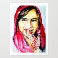henna Art Prints featuring Henna by SoleilStFleur