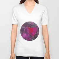 passion V-neck T-shirts featuring Passion    by LebensART