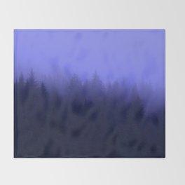 Periwinkle Fog 0367 - Seward, Alaska Throw Blanket