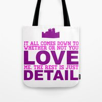 downton abbey Tote Bags featuring Downton Abbey (Branson) by Park is Park