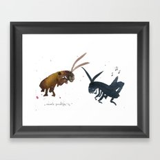 Cockroach and Cricket Framed Art Print