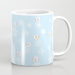 Feline Flurries on Light Blue Coffee Mug