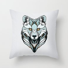 Little Polar Fox Throw Pillow